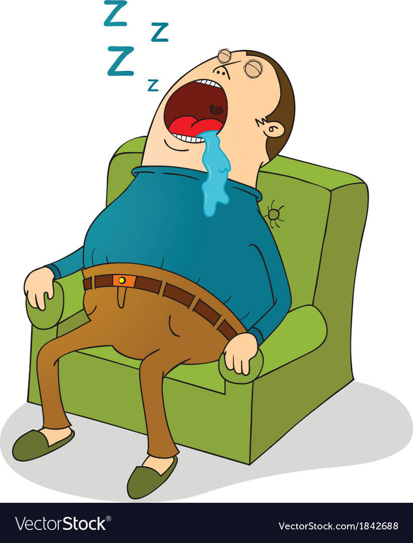 Man sleeping on sofa vector | Price: 1 Credit (USD $1)