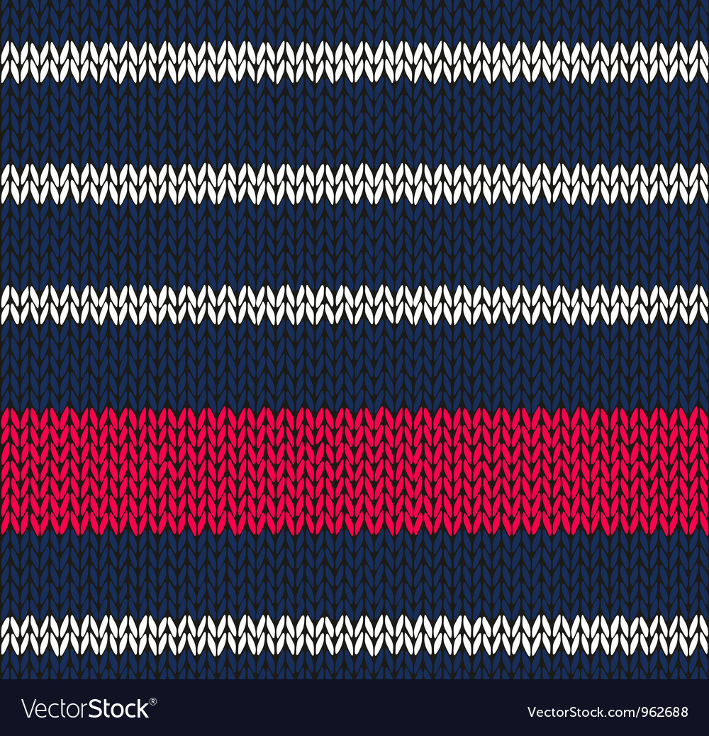 Marine blue white red knitted vector | Price: 1 Credit (USD $1)