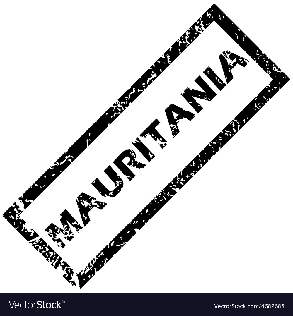 Mauritania rubber stamp vector | Price: 1 Credit (USD $1)