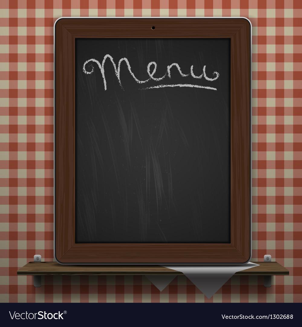 Menu blackboard background vector | Price: 3 Credit (USD $3)