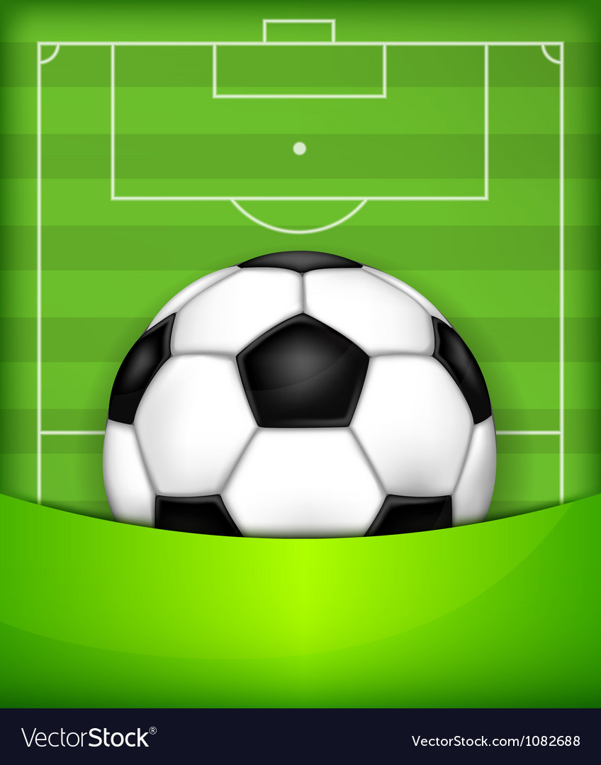 Playing field ball green background soccer 10 v vector | Price: 1 Credit (USD $1)