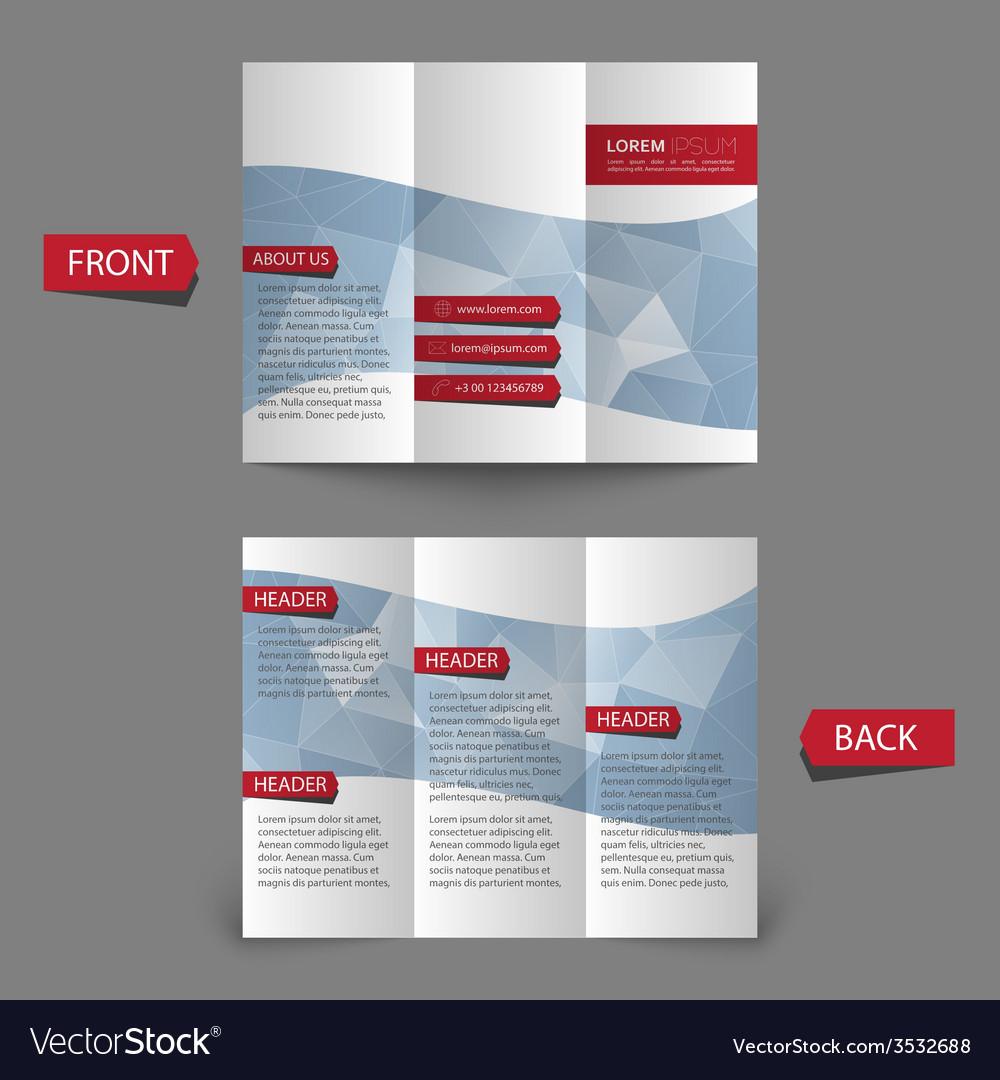 Tri fold brochure design vector | Price: 1 Credit (USD $1)