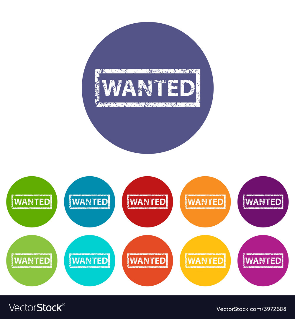 Wanted flat icon vector | Price: 1 Credit (USD $1)
