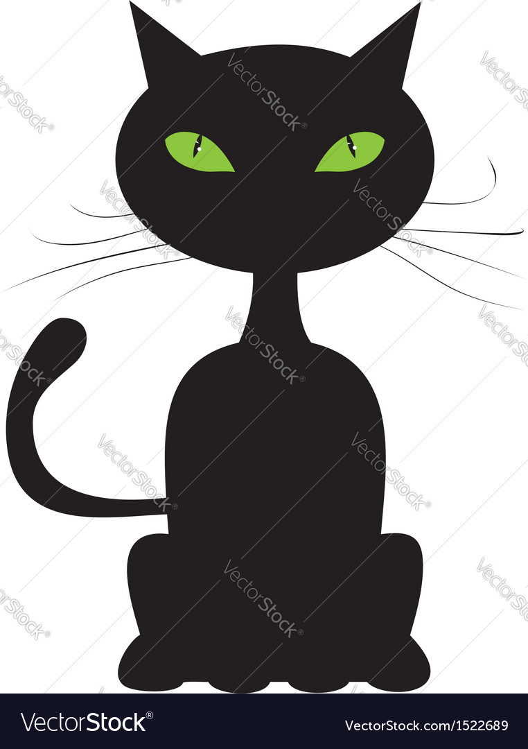 Abstract black cat vector | Price: 1 Credit (USD $1)