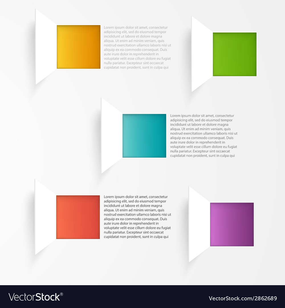 Background squares set web design vector | Price: 1 Credit (USD $1)