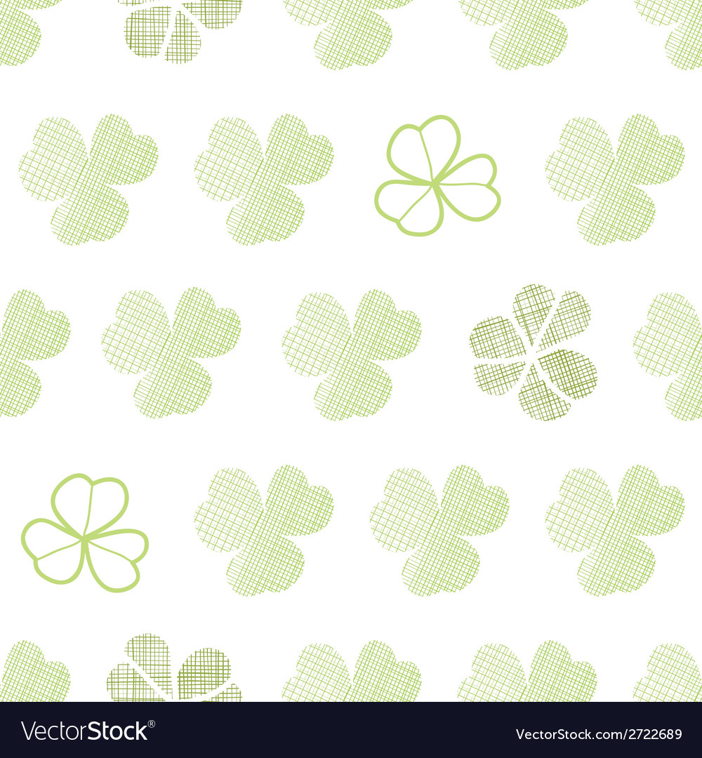 Clover textile textured geometric seamless pattern vector | Price: 1 Credit (USD $1)