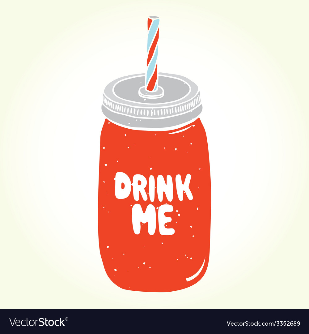 Drink me jar isolated vector | Price: 1 Credit (USD $1)