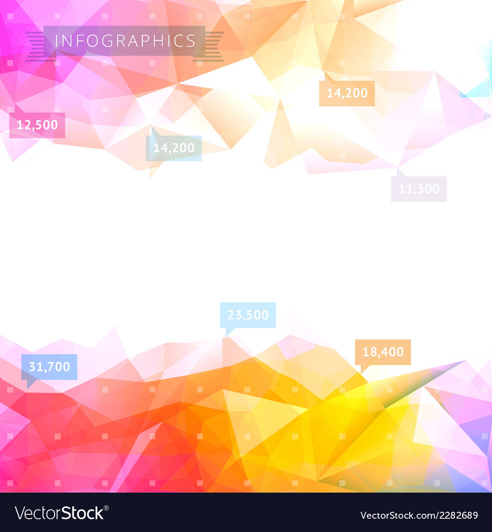Geometric low poly background vector | Price: 1 Credit (USD $1)