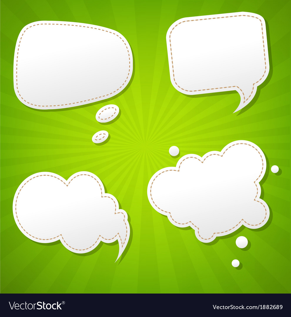 Green sunburst poster with speech bubble vector | Price: 1 Credit (USD $1)