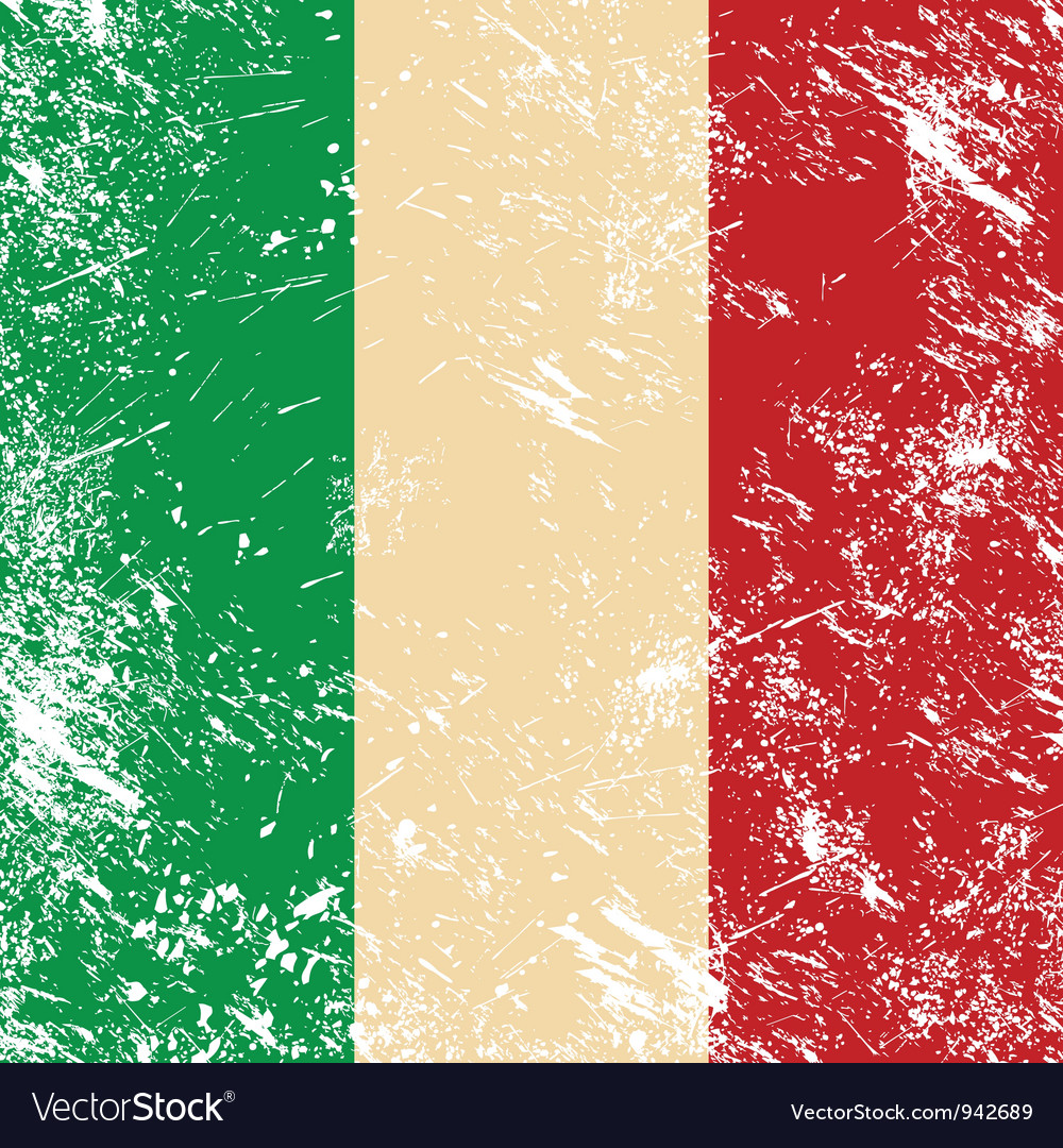 Italy retro flag vector | Price: 1 Credit (USD $1)