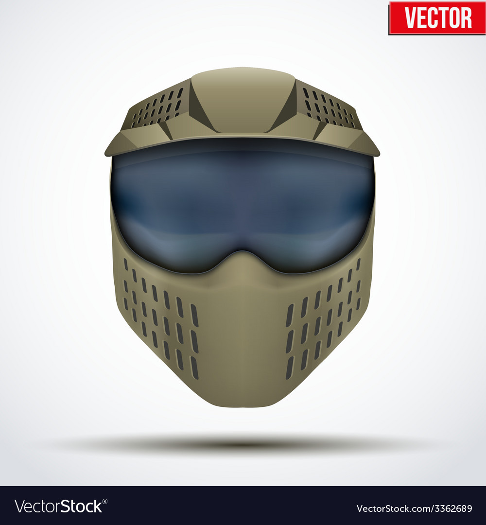 Khaki paintball mask with goggles original design vector | Price: 1 Credit (USD $1)
