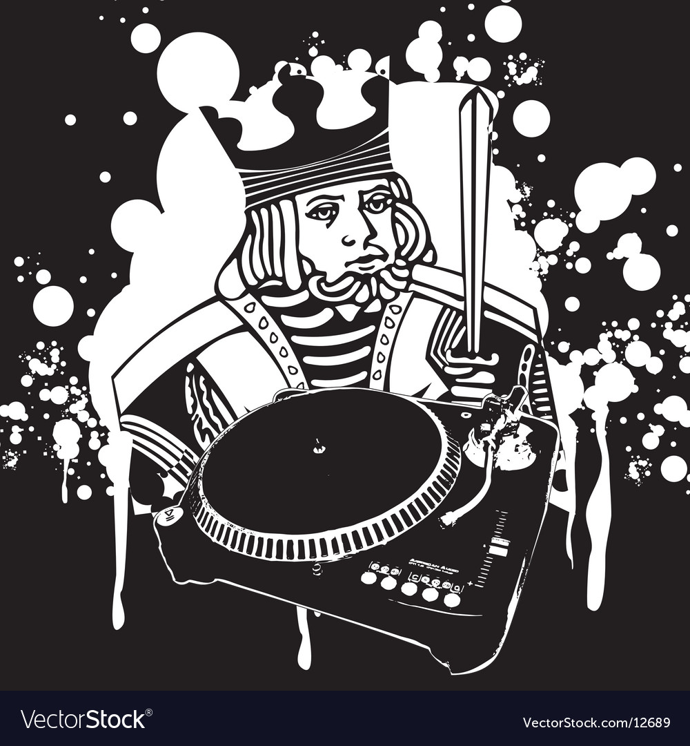 King dj graffiti vector | Price: 1 Credit (USD $1)
