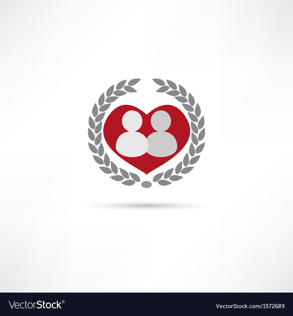 Loved one icon vector | Price: 1 Credit (USD $1)