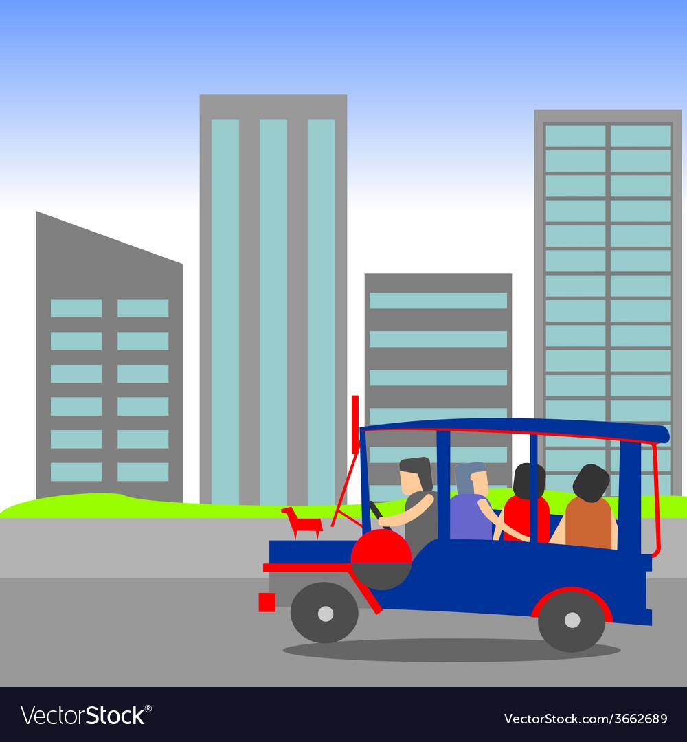Manila jeepney passenger vector | Price: 1 Credit (USD $1)