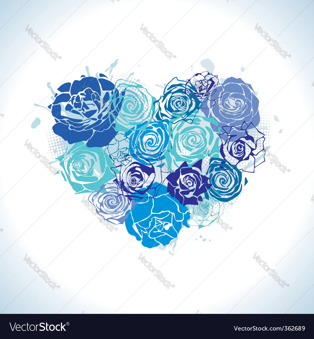 Postcard with floral heart vector | Price: 1 Credit (USD $1)