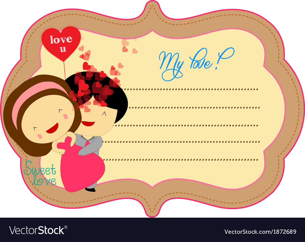 Sweet love valentines about label vector   Price: 1 Credit (USD $1)