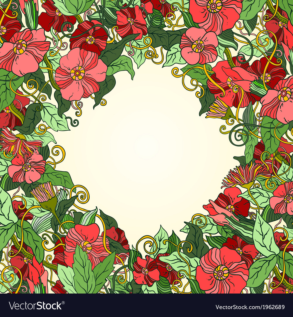 Unique pattern with art flowers vector | Price: 1 Credit (USD $1)