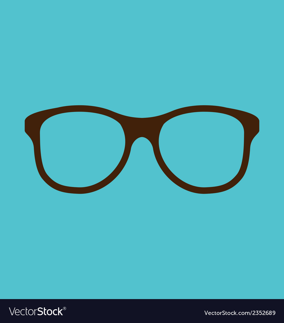 Vintage glasses icon isolated on blue background vector | Price: 1 Credit (USD $1)