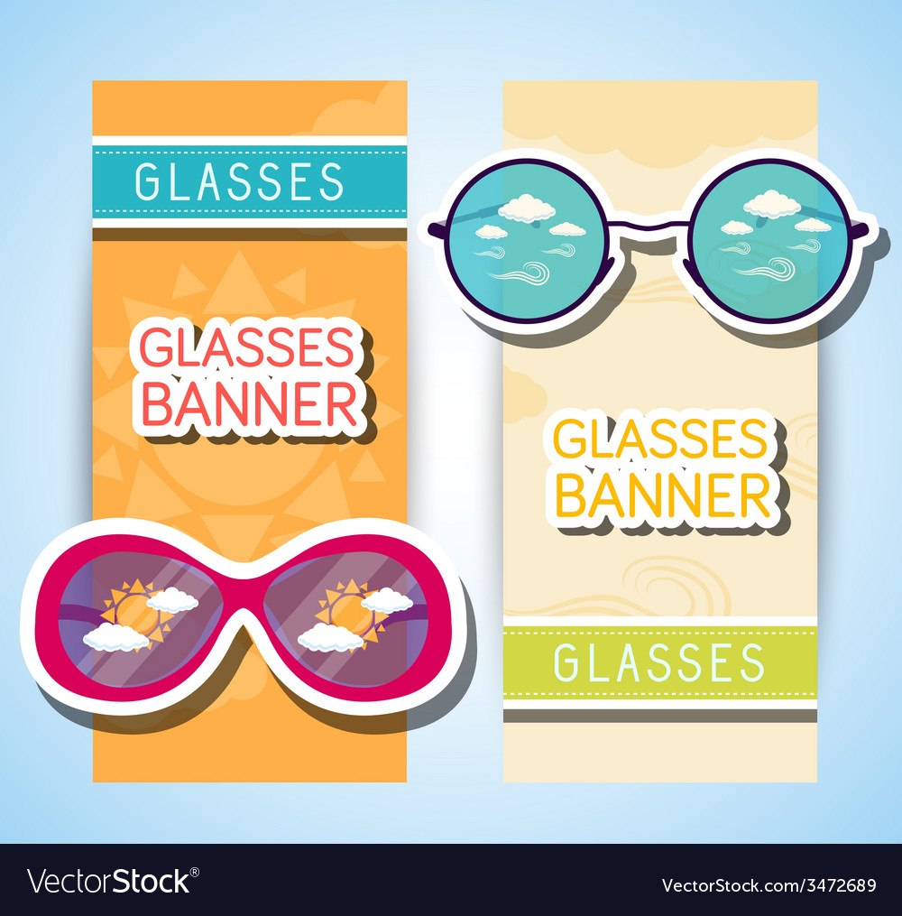 Weather glasses banner vector | Price: 1 Credit (USD $1)