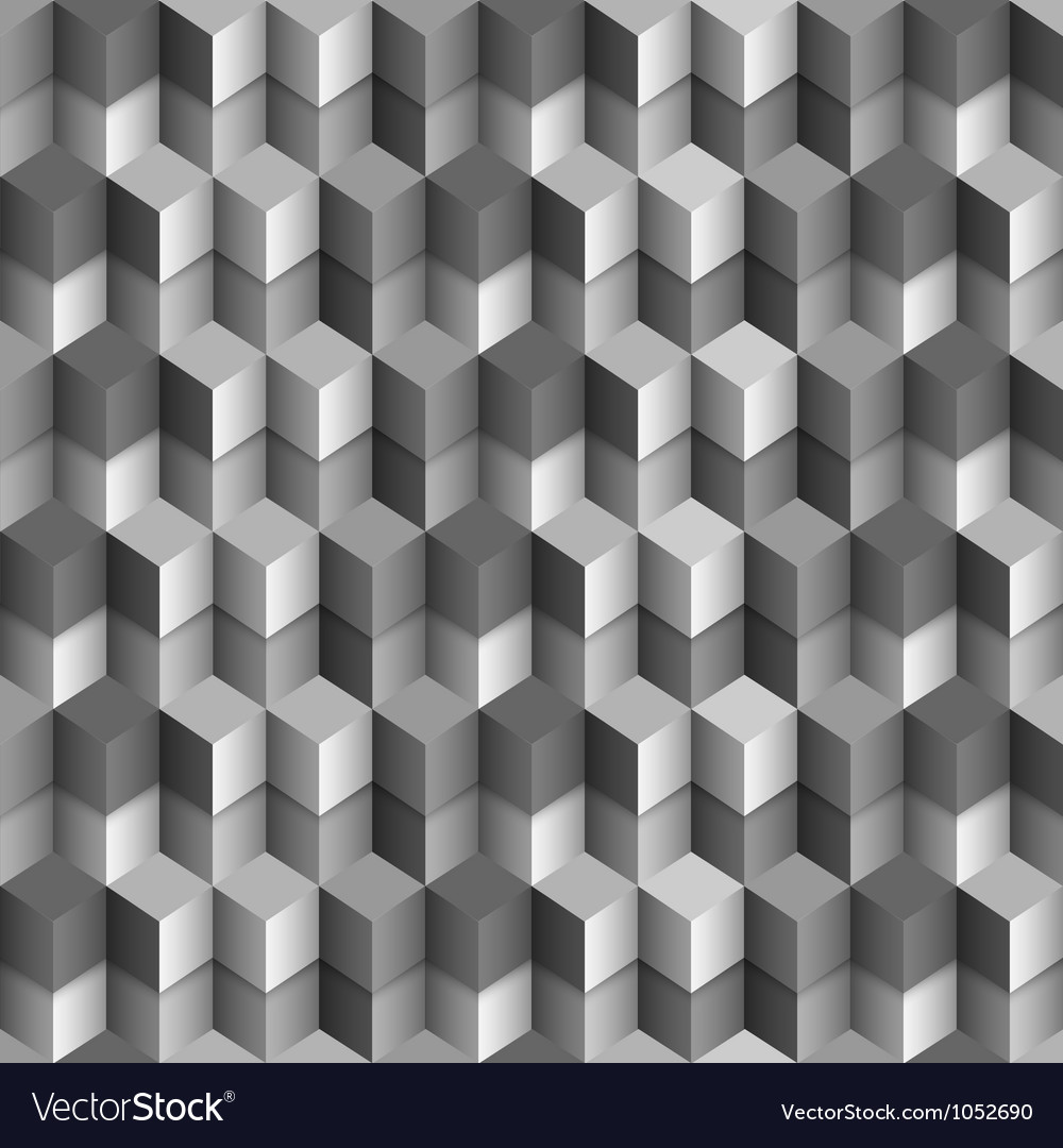 3d monochrome cubes background vector | Price: 1 Credit (USD $1)