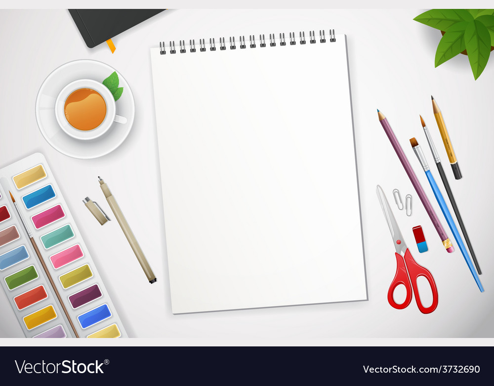 Art process with watercolor vector | Price: 1 Credit (USD $1)