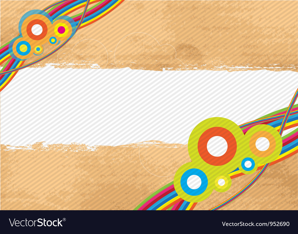 Banner retro style vector | Price: 1 Credit (USD $1)