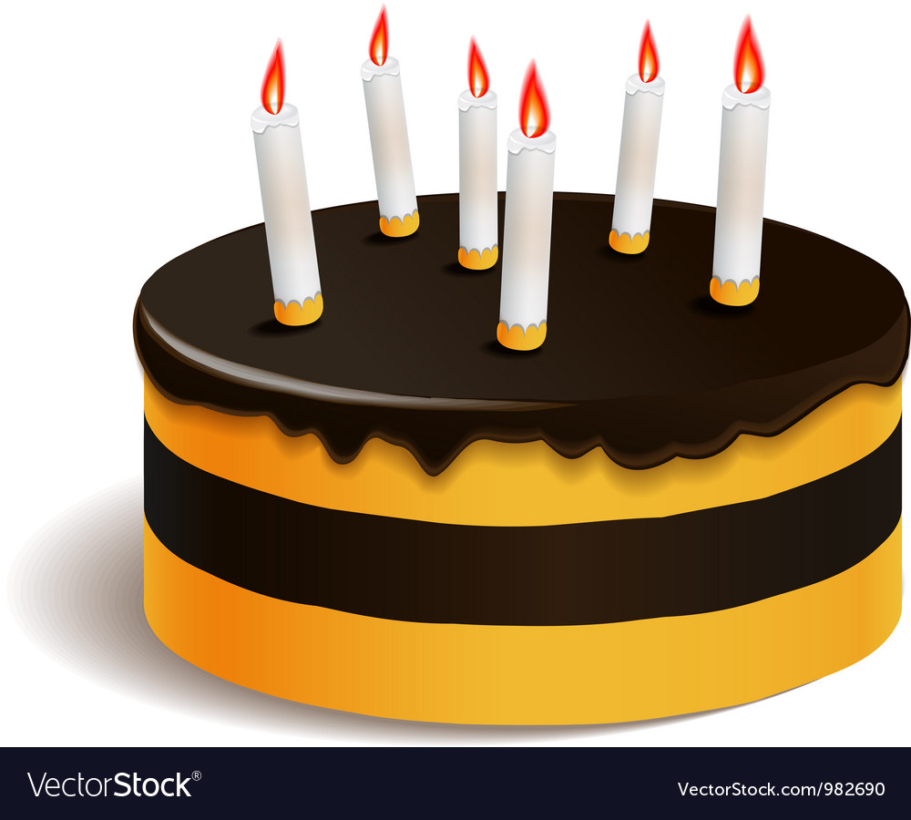 Big layered cake for celebration vector | Price: 3 Credit (USD $3)