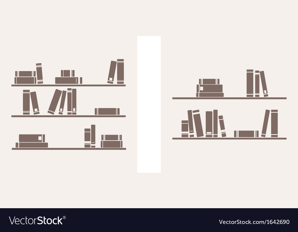Books on the shelf set - simply retro vector | Price: 1 Credit (USD $1)
