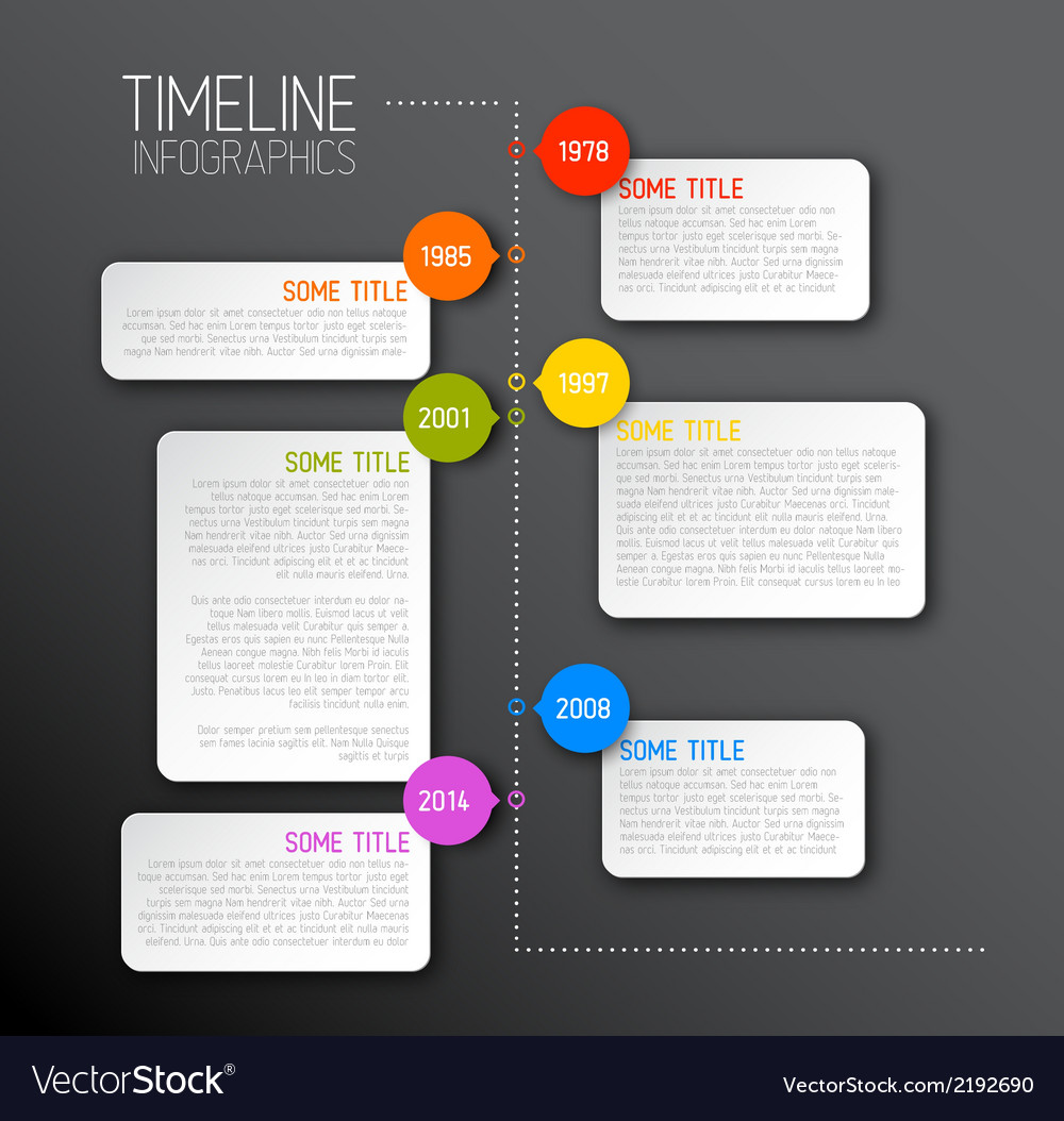Dark infographic timeline report template vector | Price: 1 Credit (USD $1)