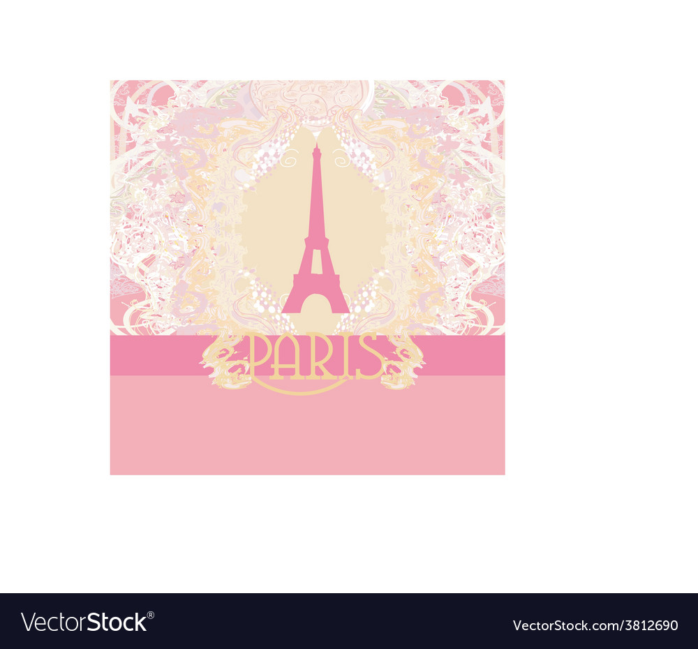 Eiffel tower artistic background vector | Price: 1 Credit (USD $1)