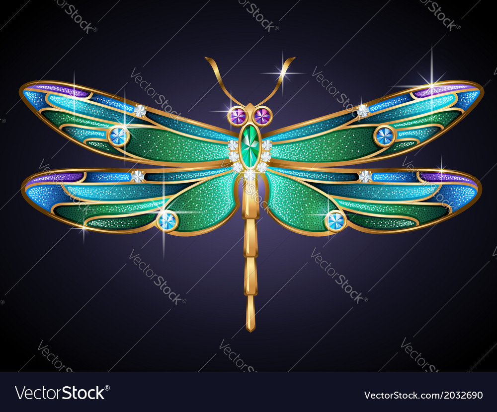 Golden dragonfly vector | Price: 1 Credit (USD $1)