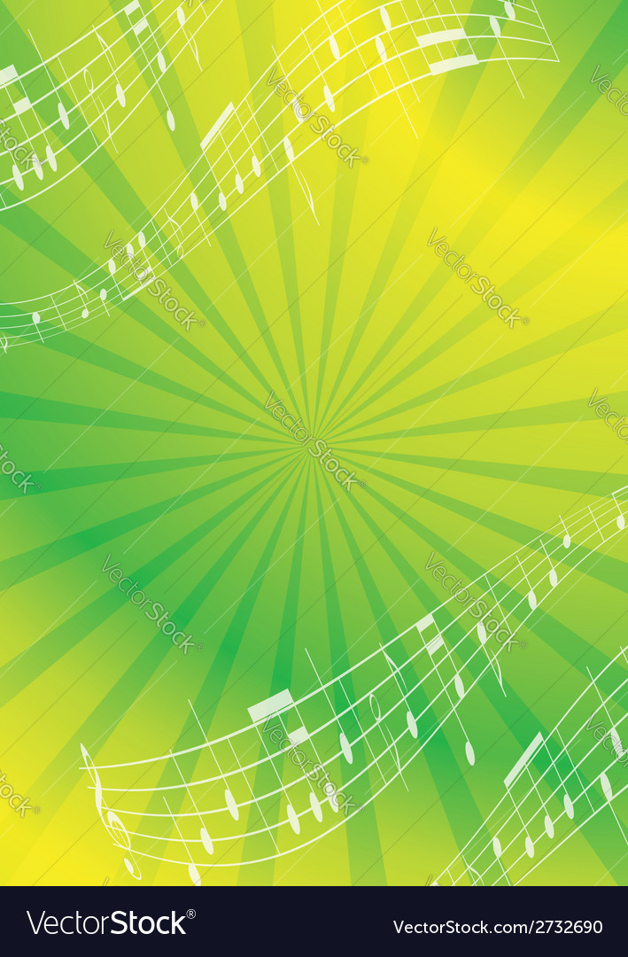 Green and yellow abstract music background vector | Price: 1 Credit (USD $1)