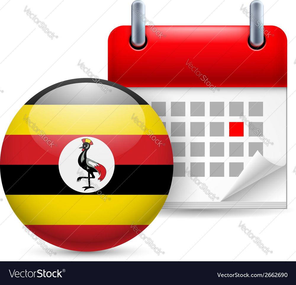Icon of national day in uganda vector | Price: 1 Credit (USD $1)