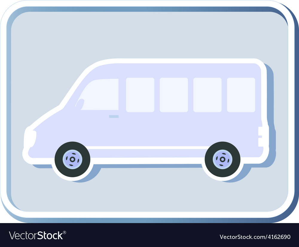 Icon with isolated minibus vector | Price: 1 Credit (USD $1)
