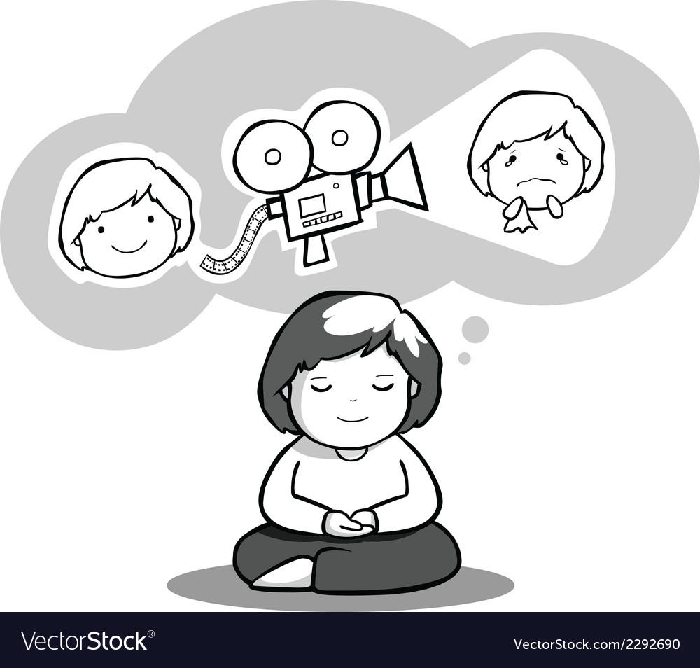 Meditation vector | Price: 1 Credit (USD $1)