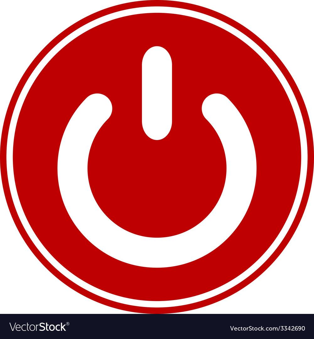 Power symbol button vector | Price: 1 Credit (USD $1)
