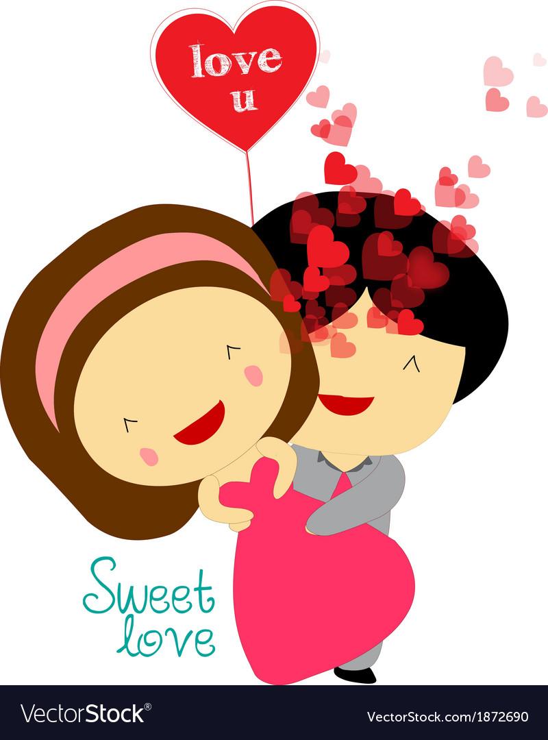 Sweet love valentines vector | Price: 1 Credit (USD $1)