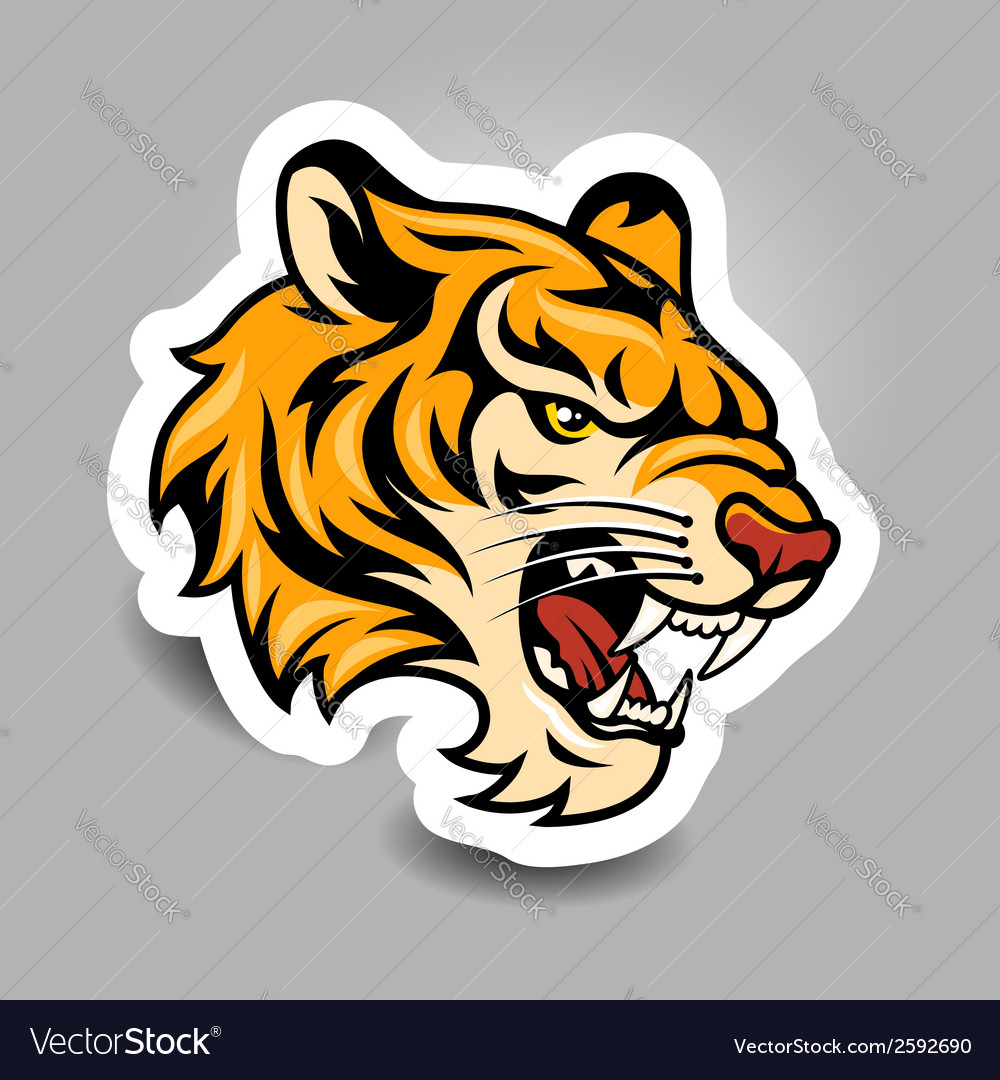 Tigerhead sticker vector | Price: 3 Credit (USD $3)
