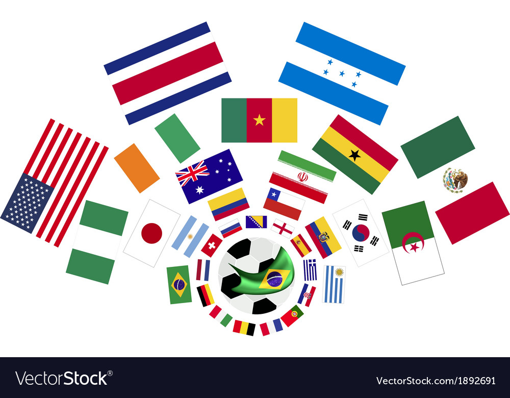 The 32 nations in the brazil 2014 vector | Price: 1 Credit (USD $1)