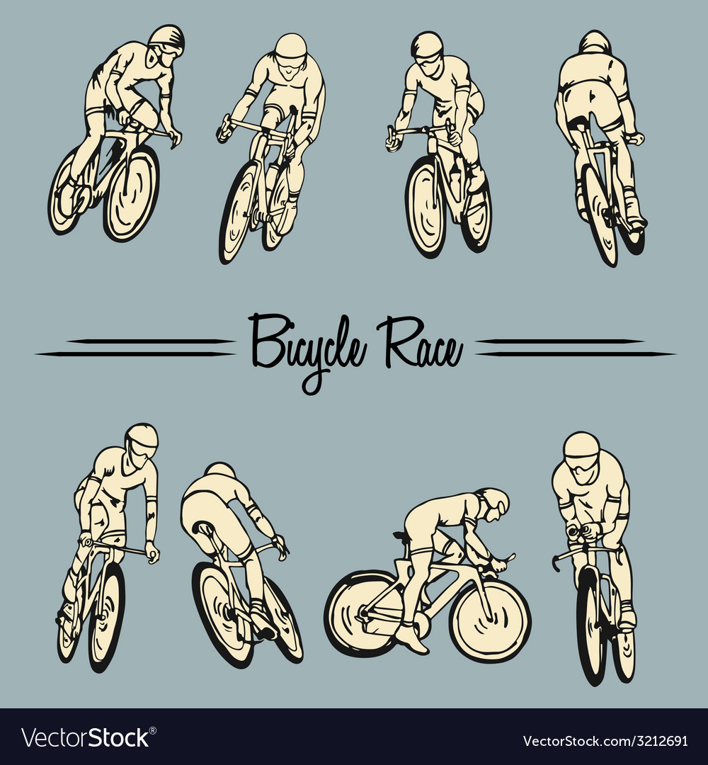 Bicycle race vector | Price: 1 Credit (USD $1)