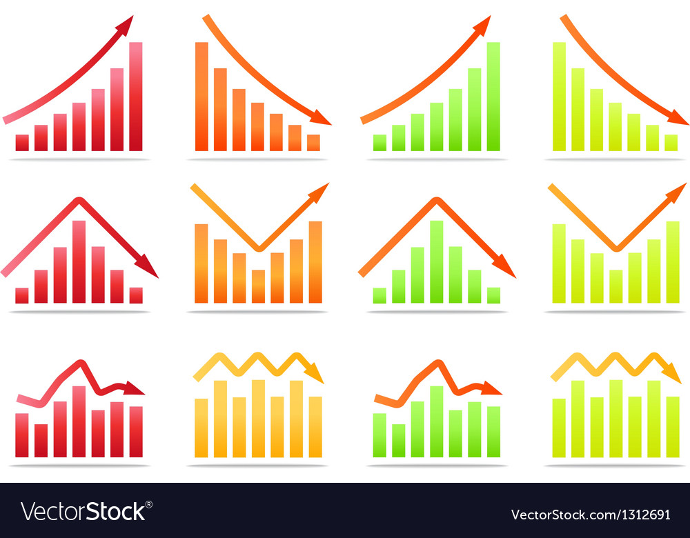 Business revenue statistics vector | Price: 1 Credit (USD $1)