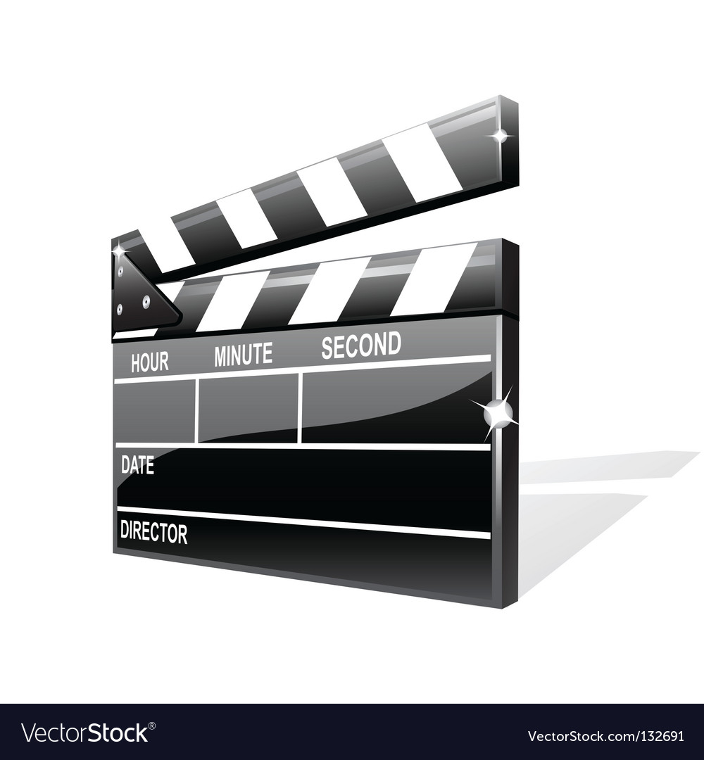 Clapper board vector | Price: 1 Credit (USD $1)