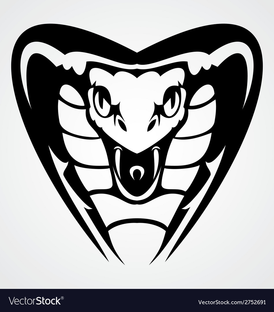 Cobra head tribal vector | Price: 1 Credit (USD $1)