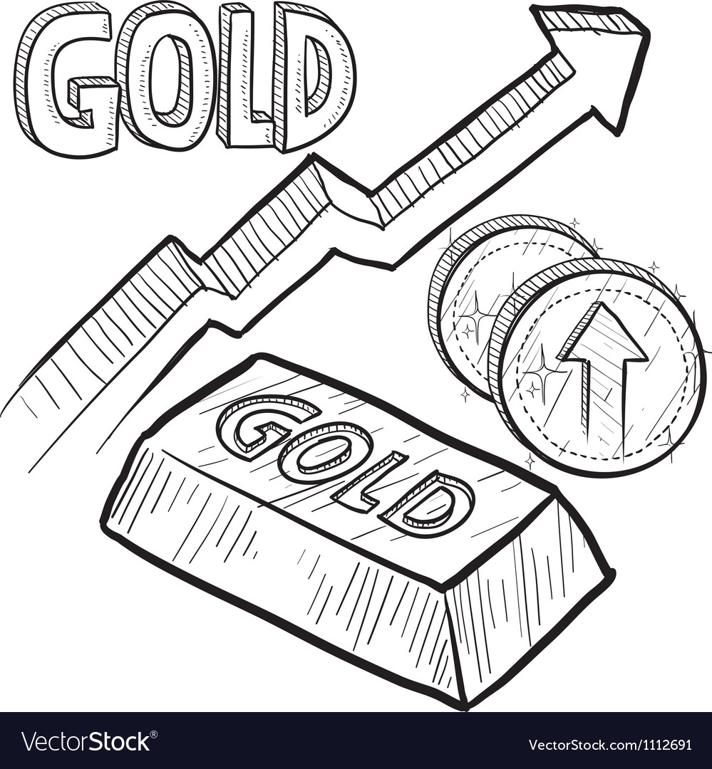 Doodle currency gold increase vector | Price: 1 Credit (USD $1)