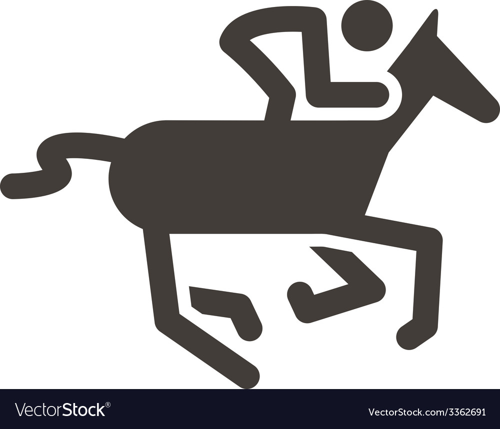 Equestrian icon vector | Price: 1 Credit (USD $1)