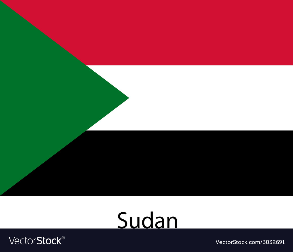 Flag of the country sudan vector | Price: 1 Credit (USD $1)