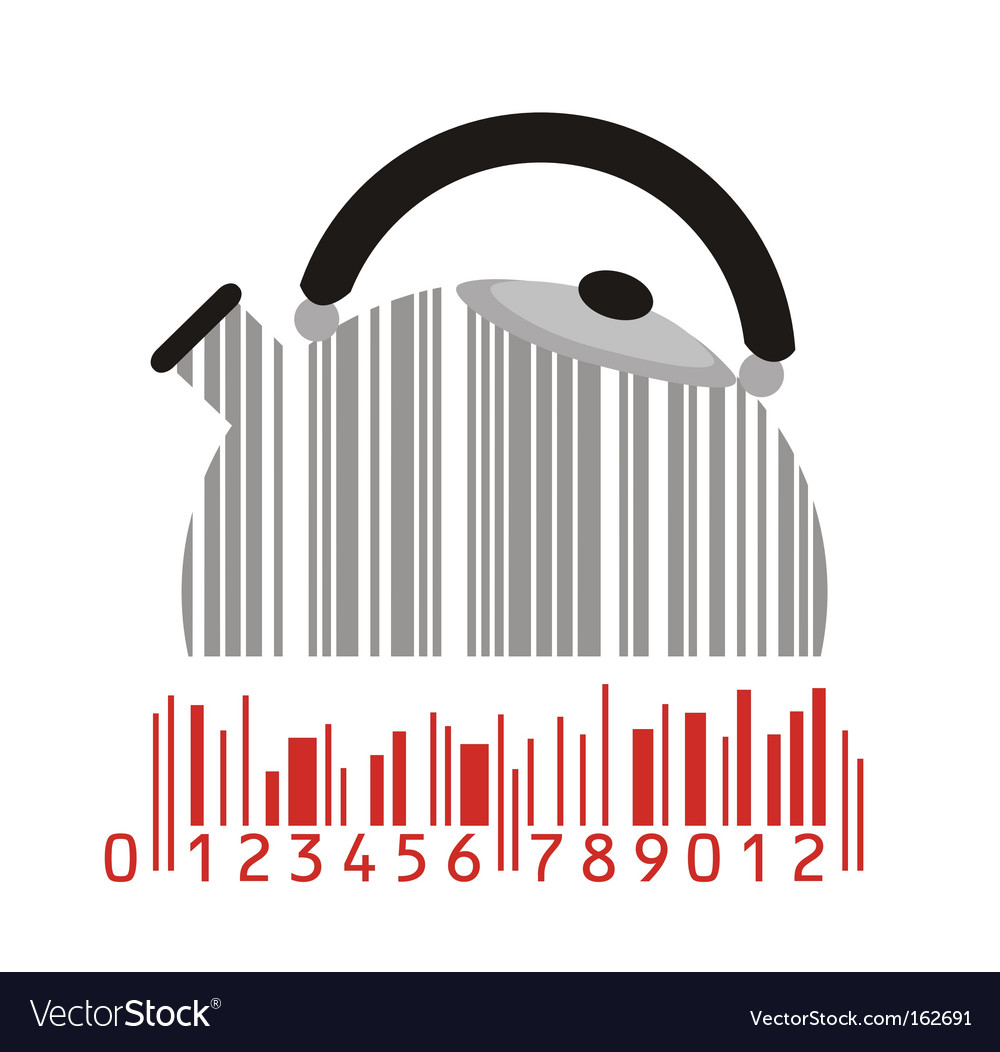Maker and barcode vector | Price: 1 Credit (USD $1)