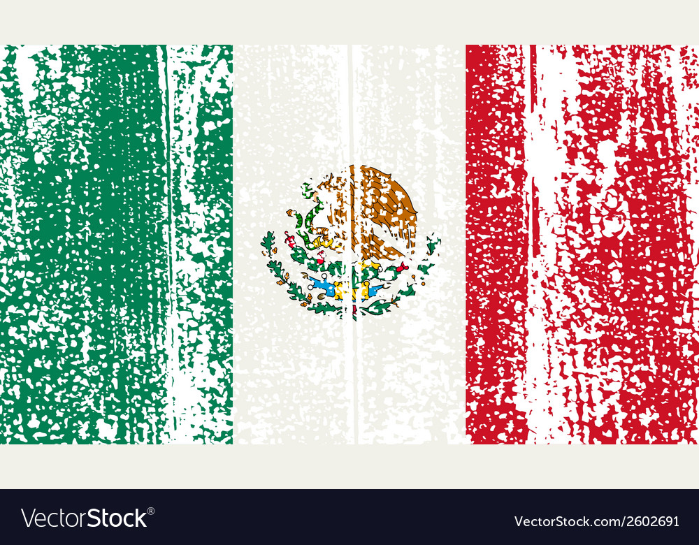 Mexican grunge flag vector | Price: 1 Credit (USD $1)