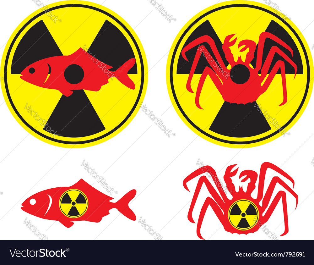 Radioactive fish vector | Price: 1 Credit (USD $1)