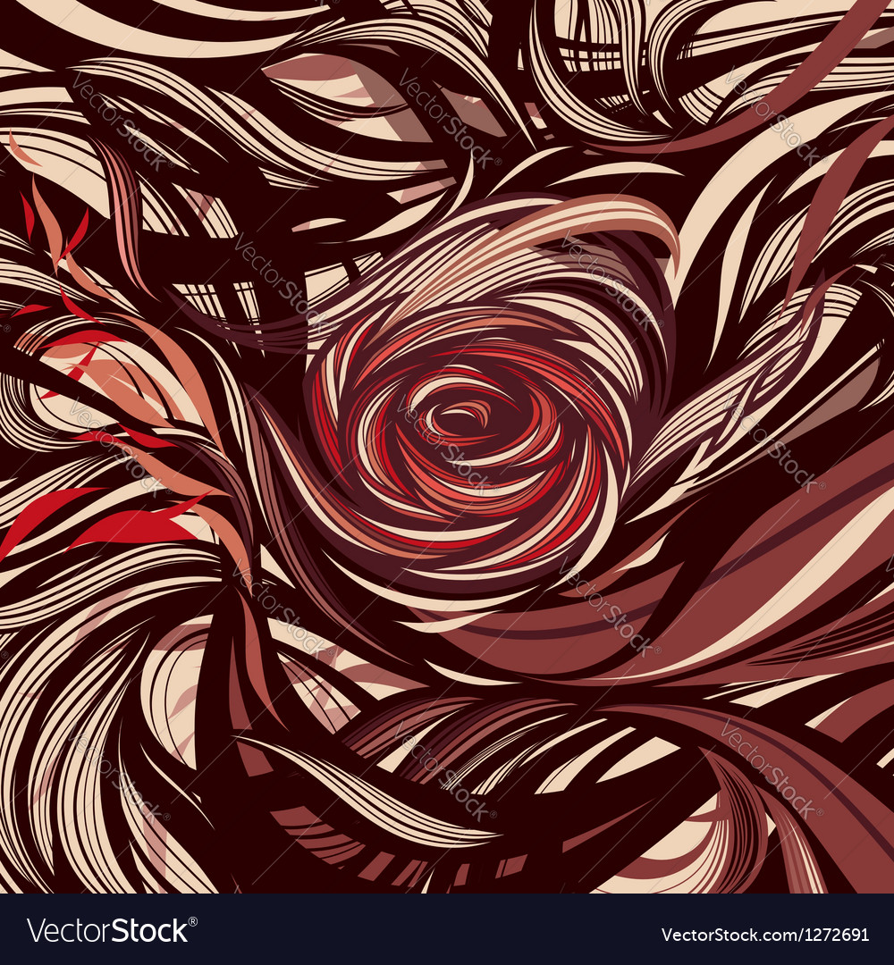 Rose - abstract modern design vector | Price: 1 Credit (USD $1)